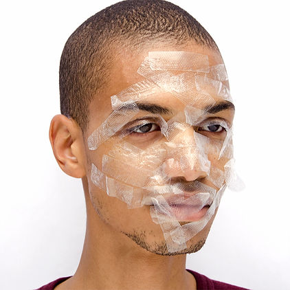 wilmer wilson with tape on his face