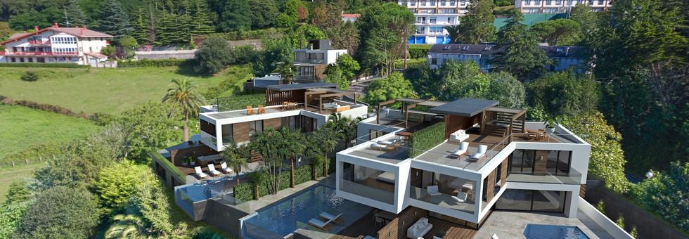 Proyecto dos villas bifamiliares