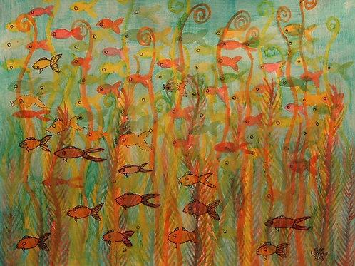 Cartoon Fish Parade