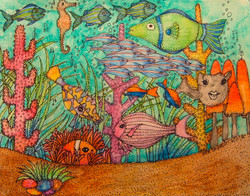 Musical Fish Band Under the Sea
