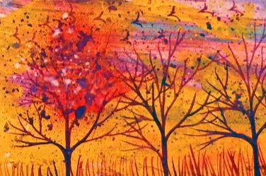 Purple Trees in a Field of Dreams   T021m
