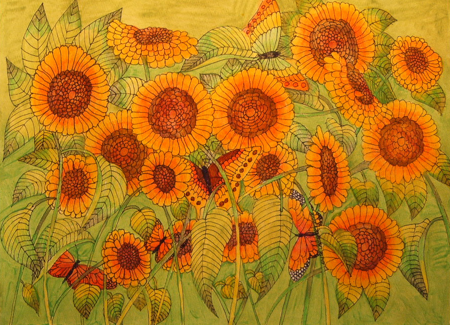 A Refreshing Walk into the Sunflower Jungle