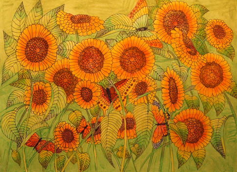 A Refreshing Walk into the Sunflower Jungle.jpg