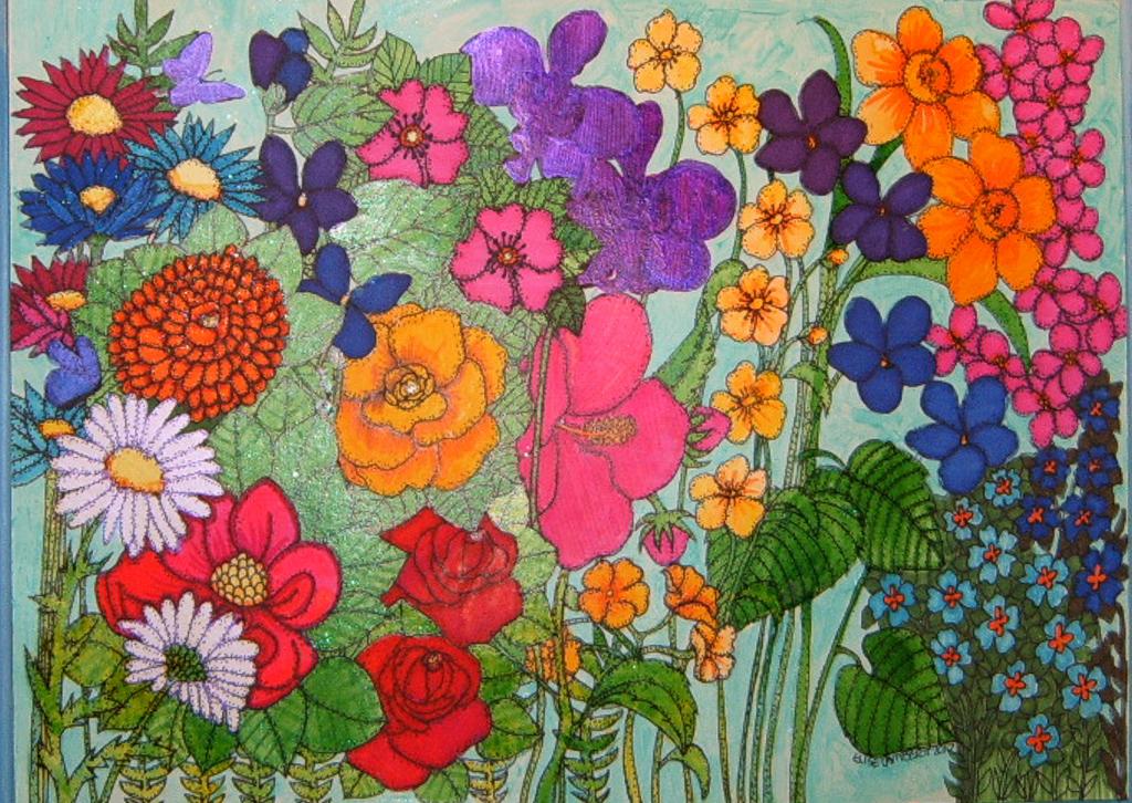 A Pensive Garden of Peace