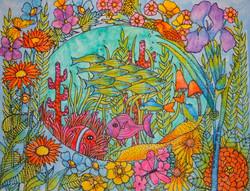 Floral Fish Garden