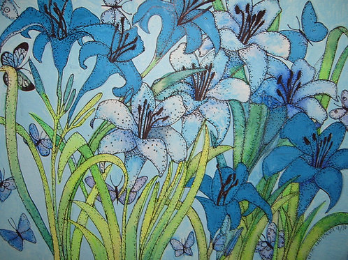 A Study in Blue Lilies