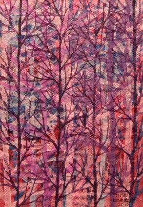 Pensive Purple Trees