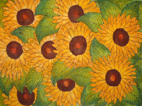 Embraced by Sunflowers