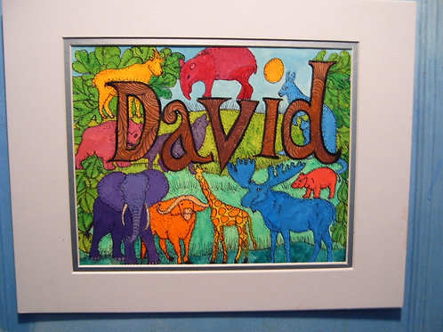 David (Child's Name Design