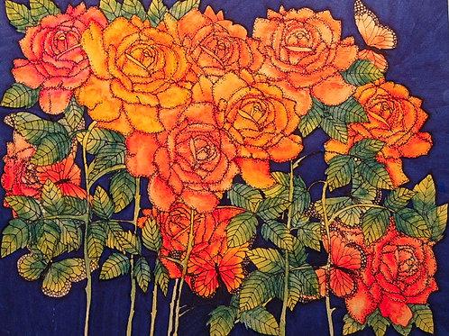 Tea Roses at Midnight