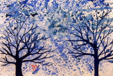 Blue Trees in a Blue Snow StormT024m