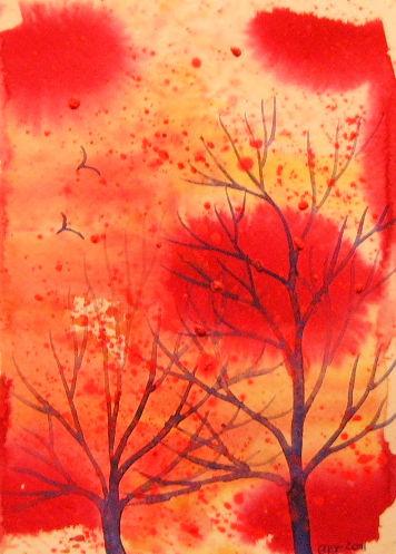 Magenta Display of Autumn