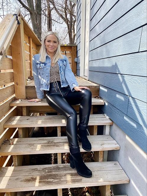 Sophia Leather Leggings