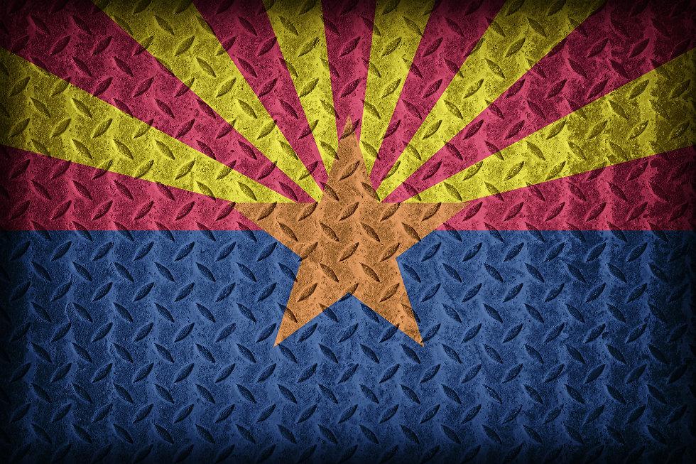 Arizona flag pattern on diamond metal pl