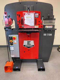 Edwards-55Ton-Ironworker-w-10in-Brake-Attachment-New