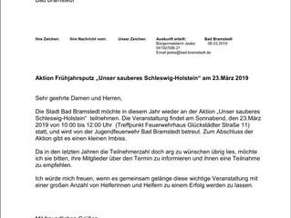"""Frühjahrsputz """"Unser sauberes Schleswig-Holstein"""""""