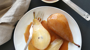 Pears with Salted Caramel (Ve)