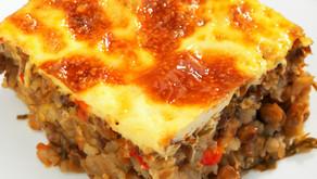 Beef casserole & vegie moussaka Menu