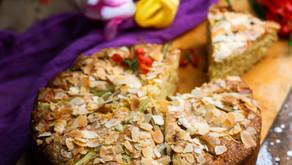 Rhubarb and Almond Cake (Ve)