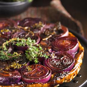 Onion Tart on its Head (Ve)
