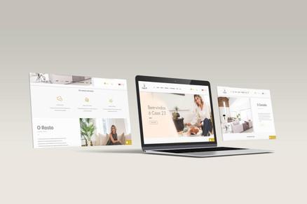 Visualização do Website