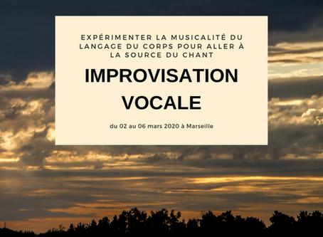 Chant, corps et Improvisation