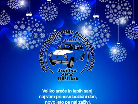 Srečno,  veselo in zdravo ob praznikih vam želi Društvo Starodobnih Policijskih Vozil 🎄