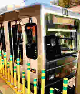 Photo of Red Line Light Rail Car in Pittsburgh