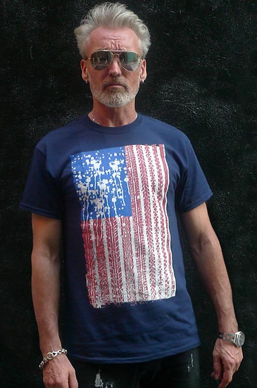 bang bang flip men's long sleeve tee, flag america abstracta