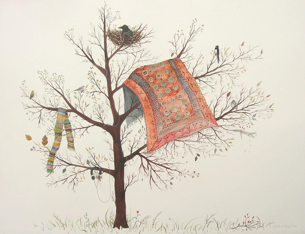 'Hanging In The Tree', 56x76 cm, 2012