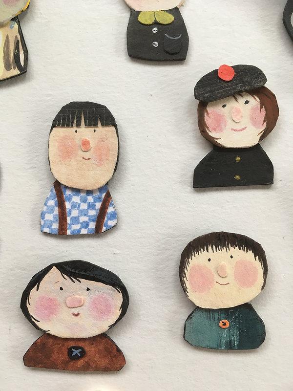 Papercut faces