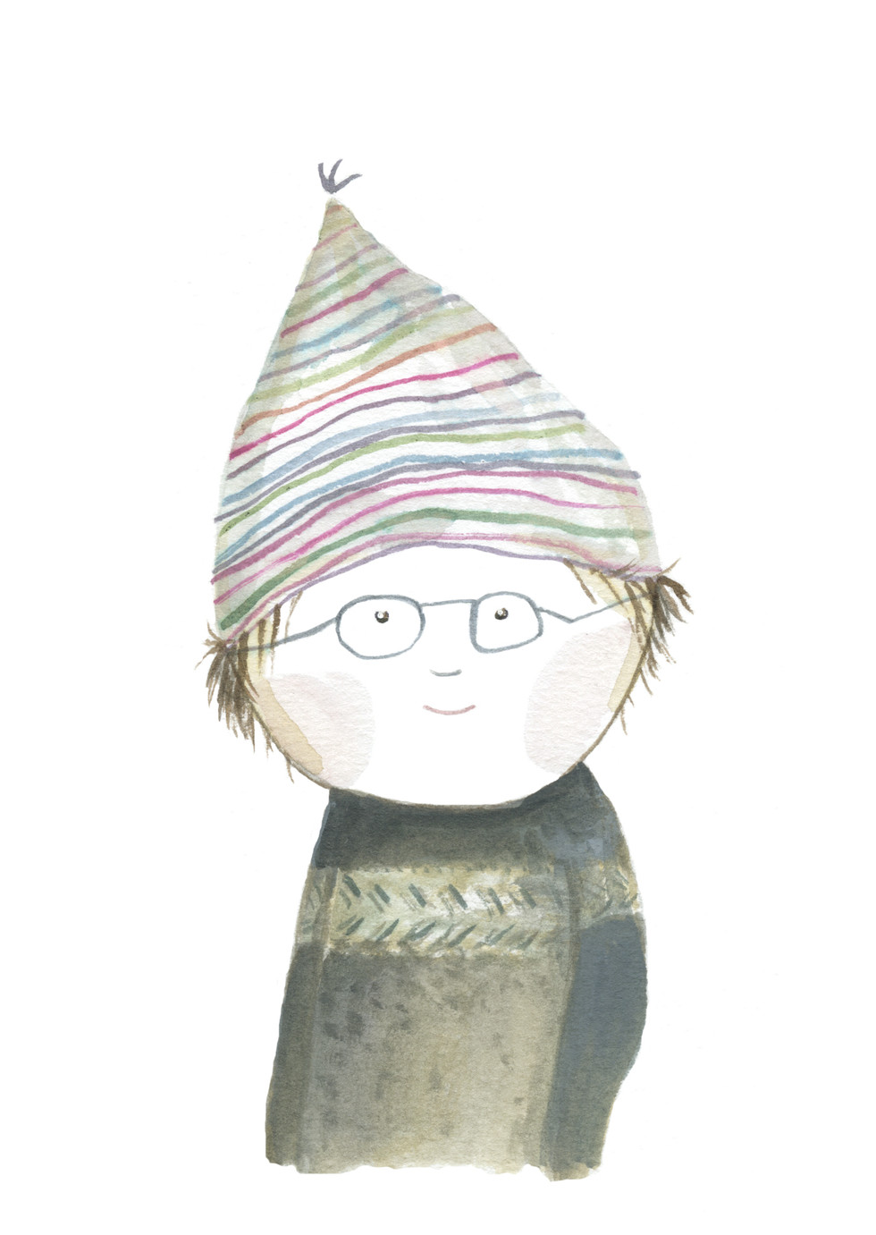 'Bent-Ole, Boy With Glasses & Hat'