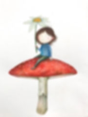 Pige på fluesvamp