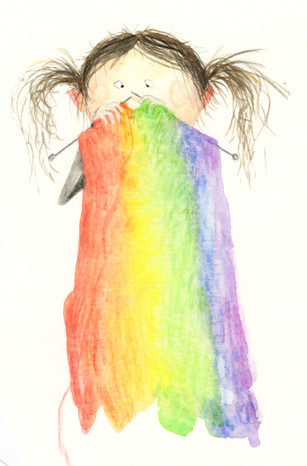 '..if Marlene could knit, she would definitely knit a rainbow..'