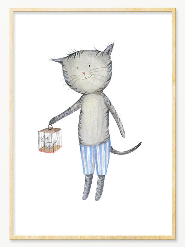 'Cat & Mouse', A4 size