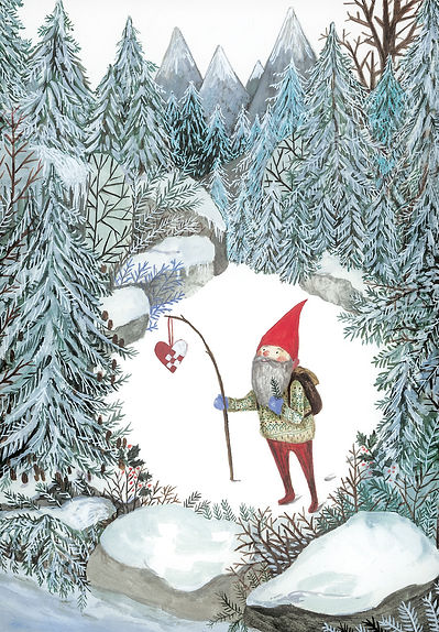 Nisse i skoven julekort.jpg