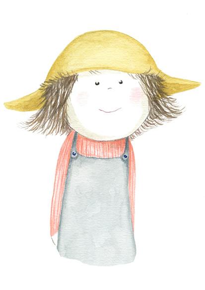 'Garden Girl With Hat'