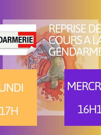 Cours enfants a la Gendarmerie