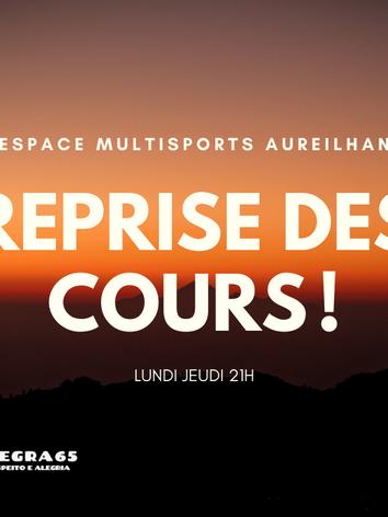 Reprise des cours a l'espace multisports d'Aureilhan