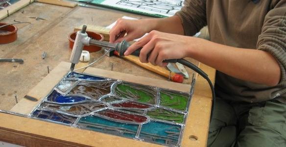 L ' atelier du vitrail