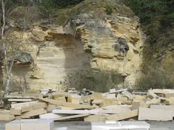 Carrière de pierre dans le Calvados