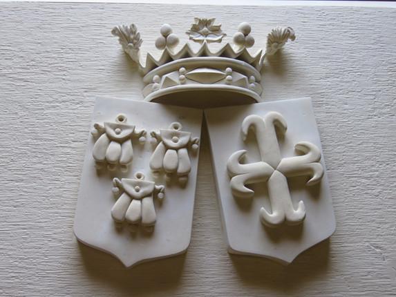 Armoiries et Blasons sculptés en pierre