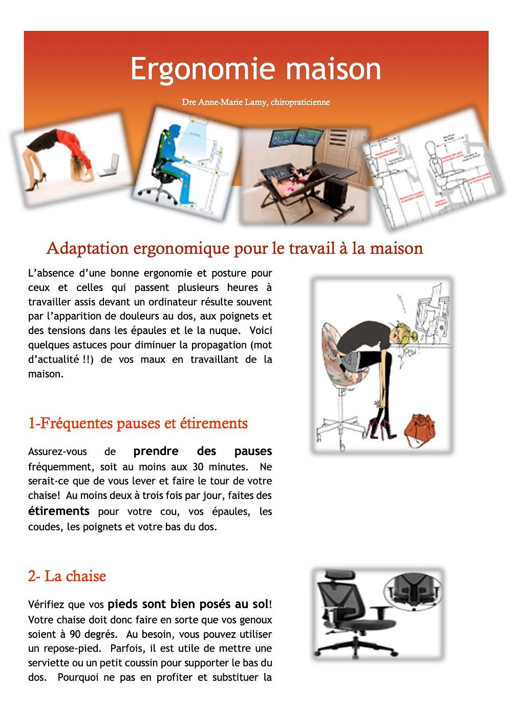 Afin de mieux s'adapter à cette situation particulière, voici quelques astuces pour ajuster votre station de travail maison.