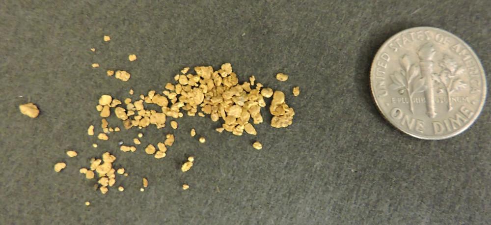 Arizona Mining Claim Recovered Gold Sample