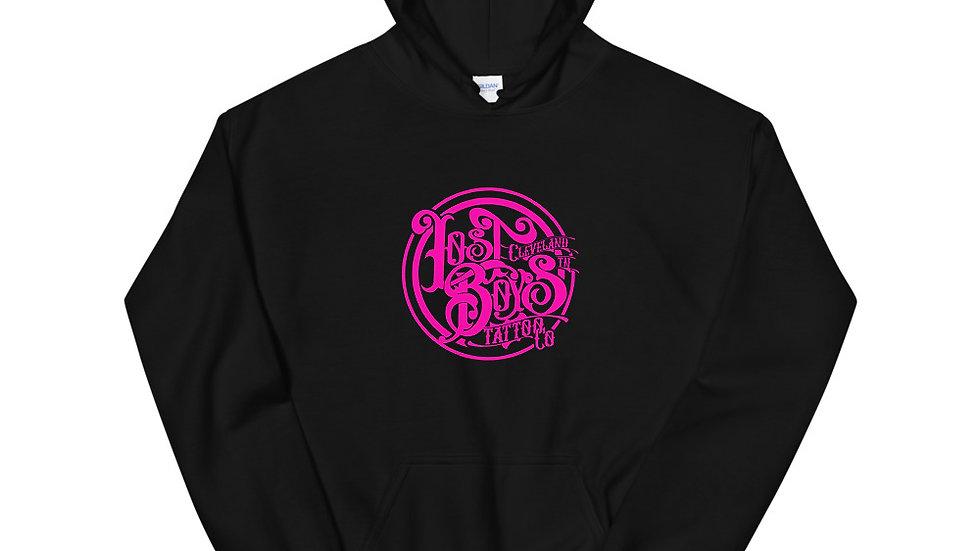 Pink LB Logo Unisex Hoodie