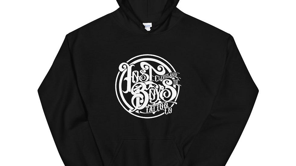 Unisex Hoodies White LB Logo