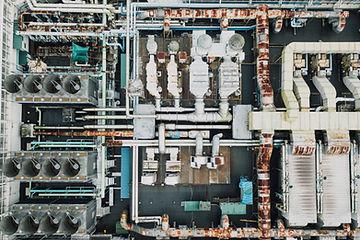 inspeção industrial com drone