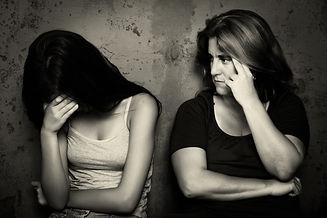 Family problems - Teenage girl cries nex