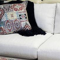 sofa, pillow, blanket