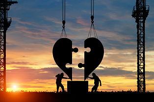 silhouette of Engineer heart shape build